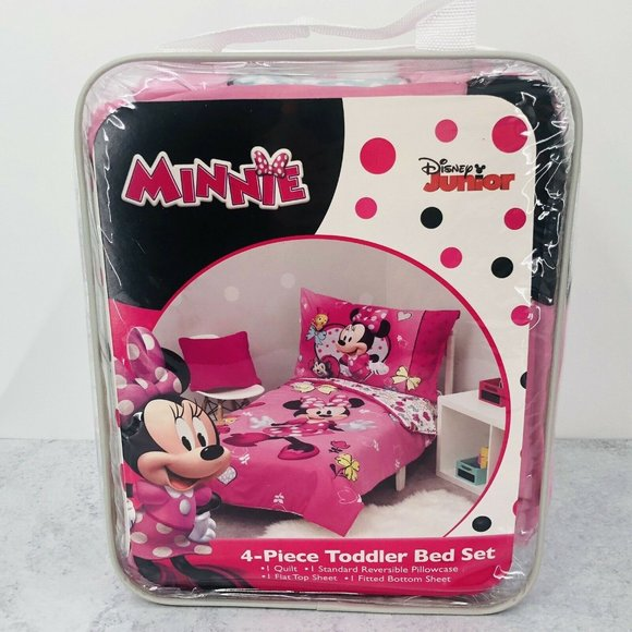 Disney Junior Minnie Mouse 4 Piece Toddler Bed Set